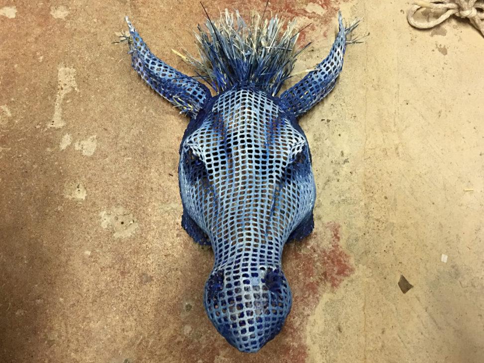 A mask of a donkey head